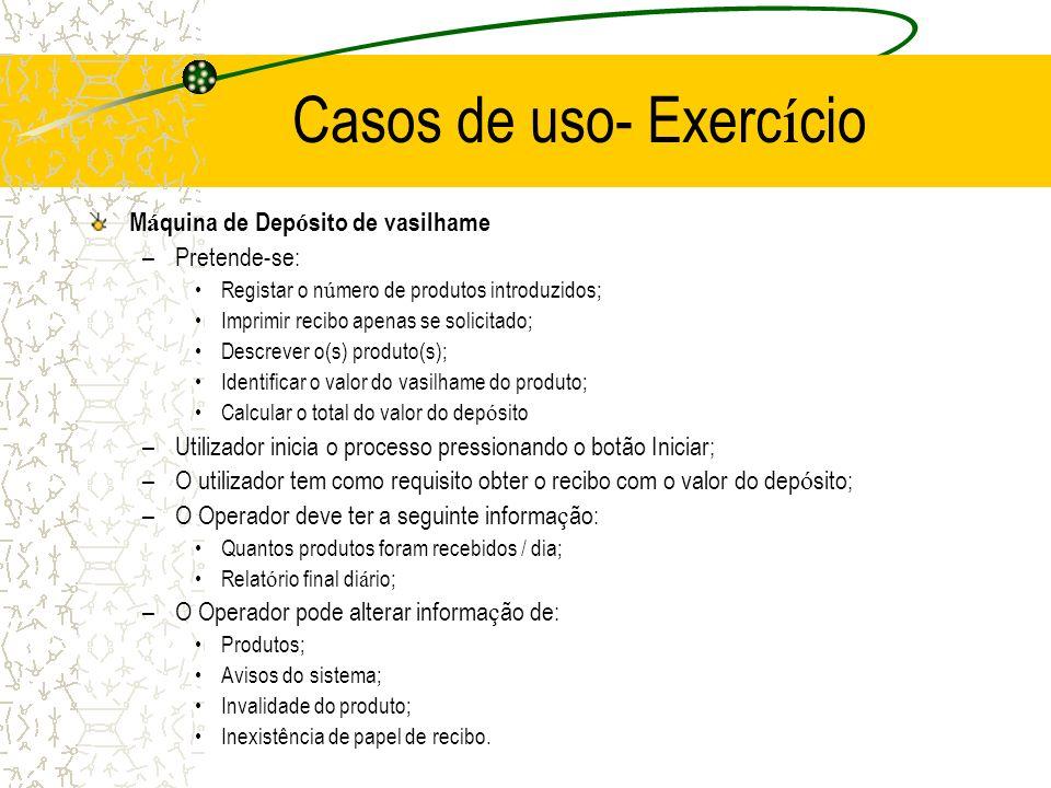 Casos de uso- Exercício