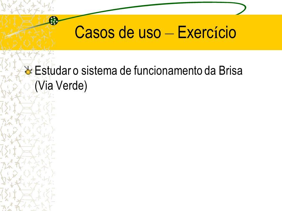 Casos de uso – Exercício