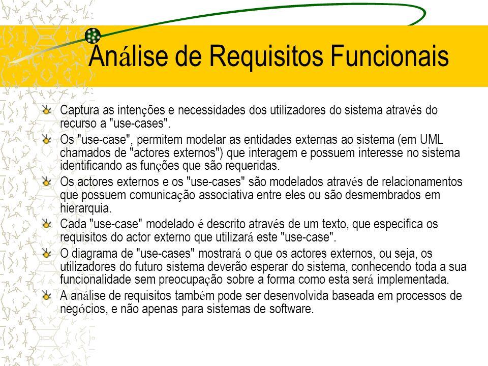 Análise de Requisitos Funcionais