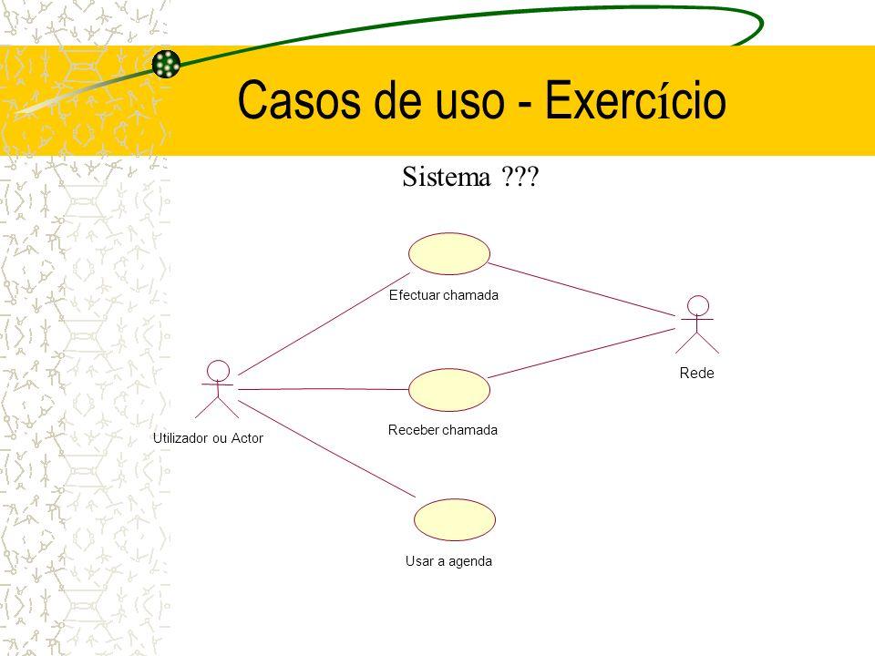 Casos de uso - Exercício