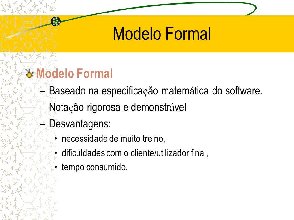 Modelo Formal Modelo Formal