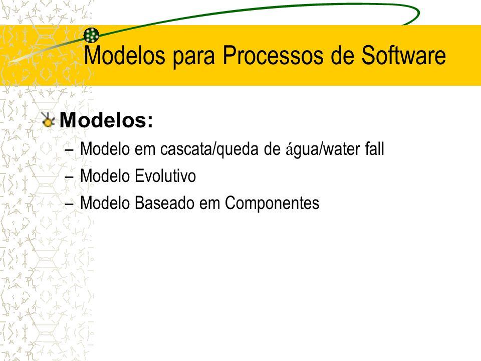 Modelos para Processos de Software