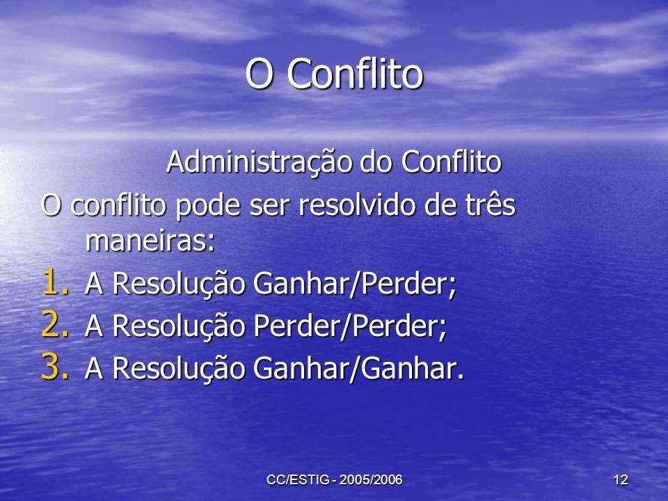 Administração do Conflito