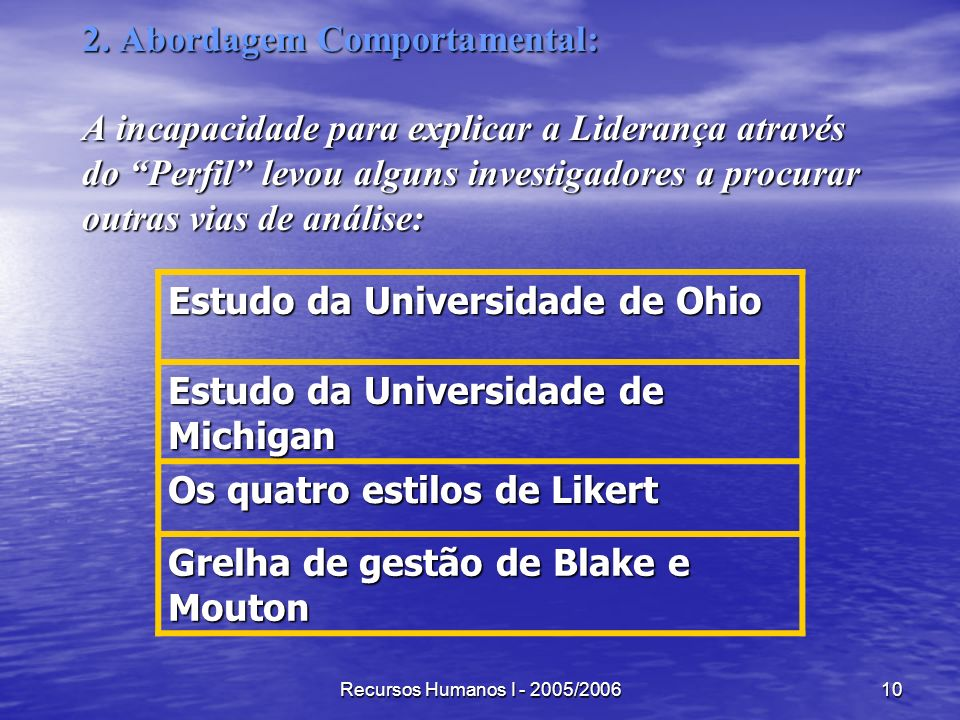 Estudo da Universidade de Ohio Estudo da Universidade de Michigan