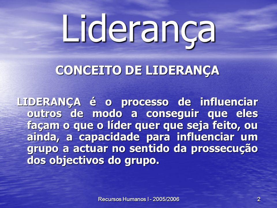 Liderança CONCEITO DE LIDERANÇA
