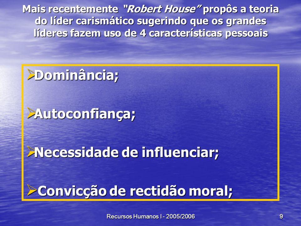 Necessidade de influenciar; Convicção de rectidão moral;