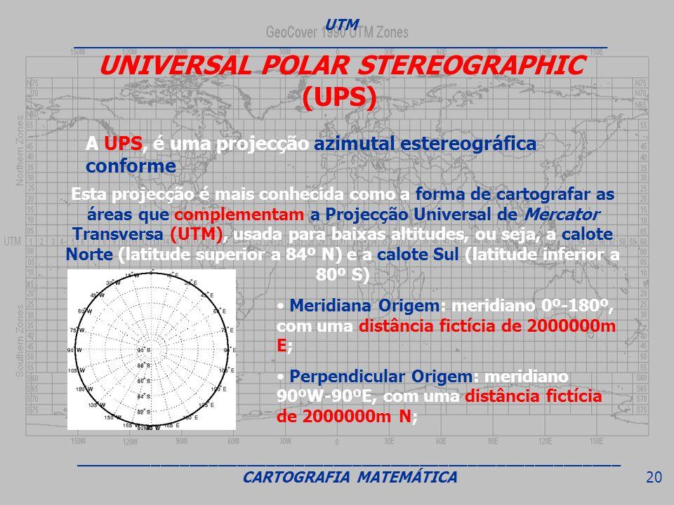 UNIVERSAL POLAR STEREOGRAPHIC (UPS)