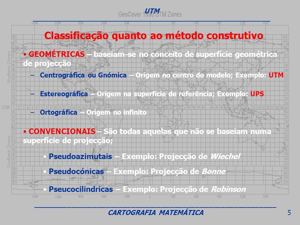 Classificação quanto ao método construtivo