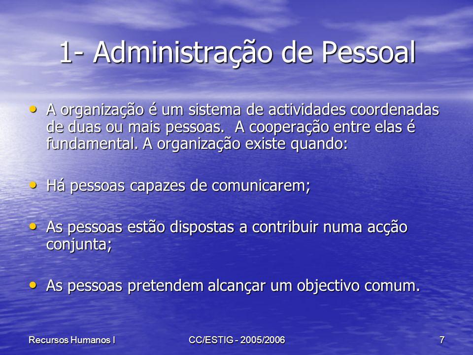 1- Administração de Pessoal