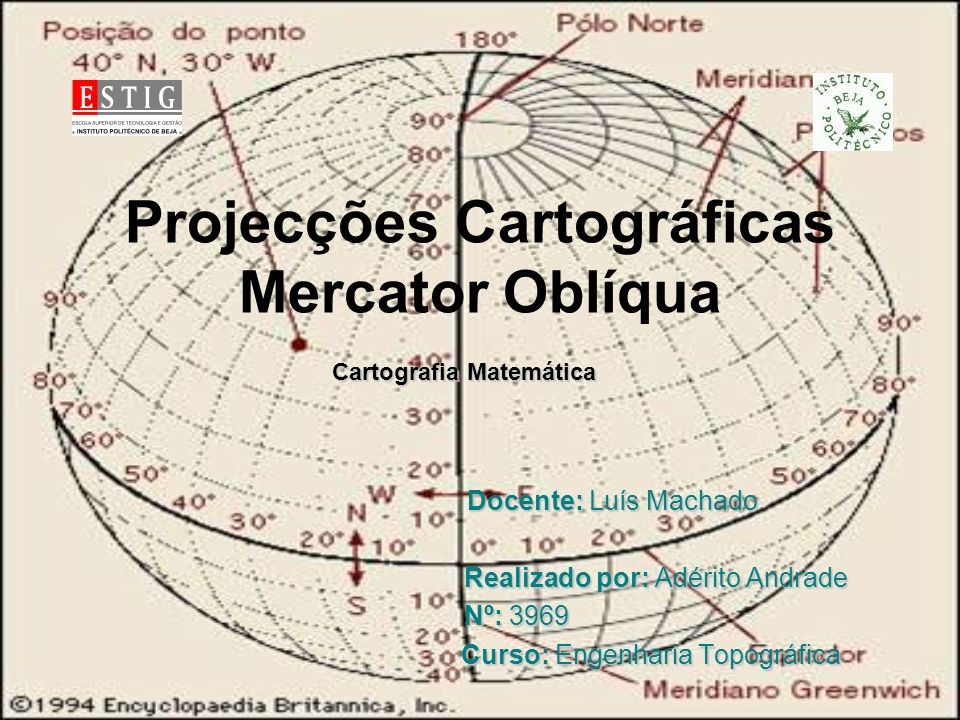 Projecções Cartográficas Mercator Oblíqua