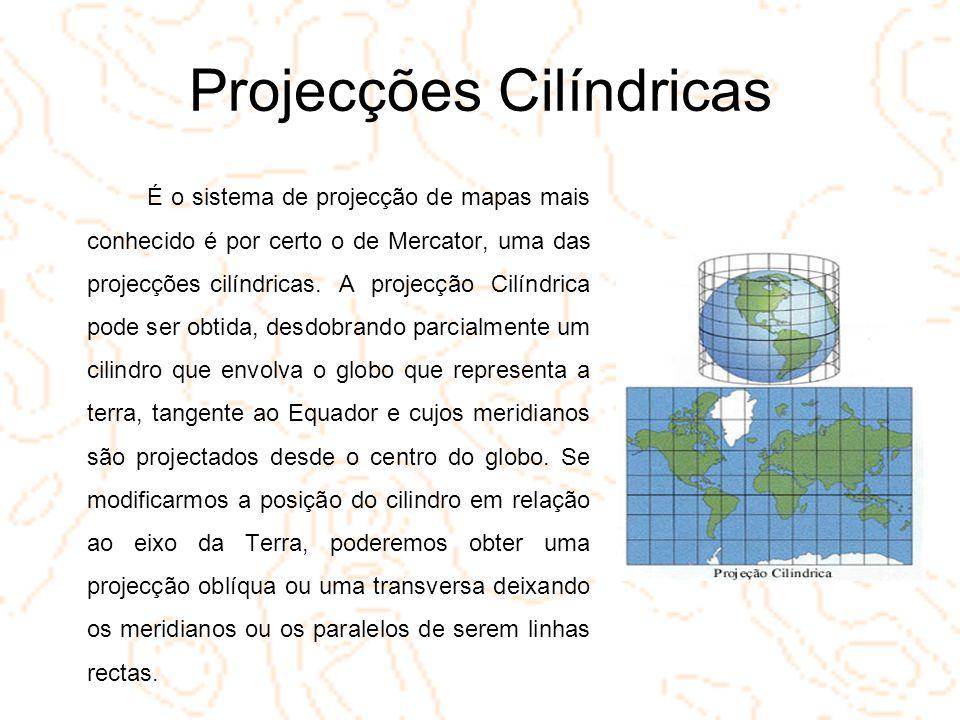 Projecções Cilíndricas