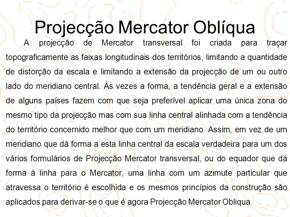 Projecção Mercator Oblíqua