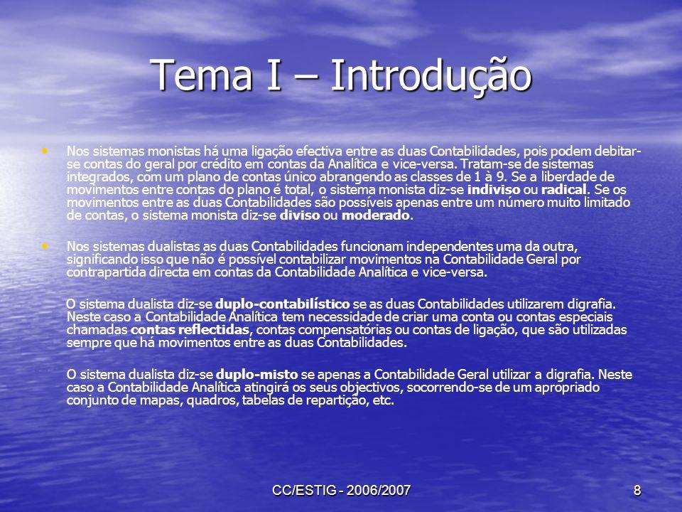 Tema I – Introdução