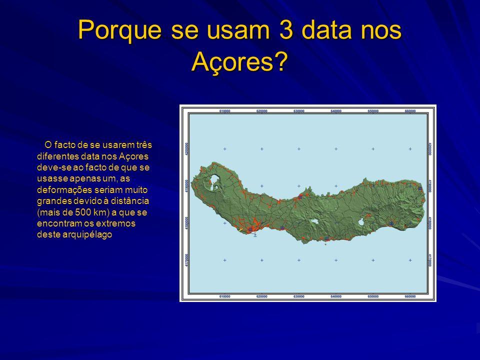 Porque se usam 3 data nos Açores