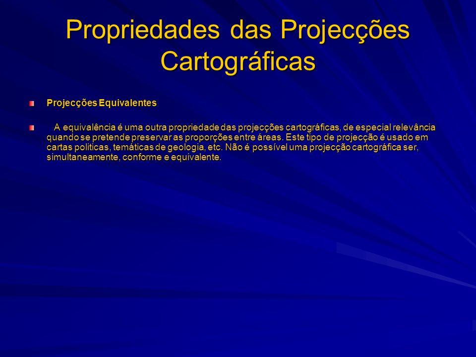 Propriedades das Projecções Cartográficas