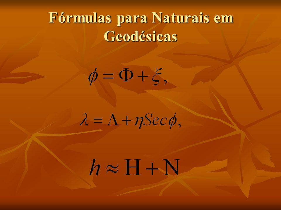 Fórmulas para Naturais em Geodésicas