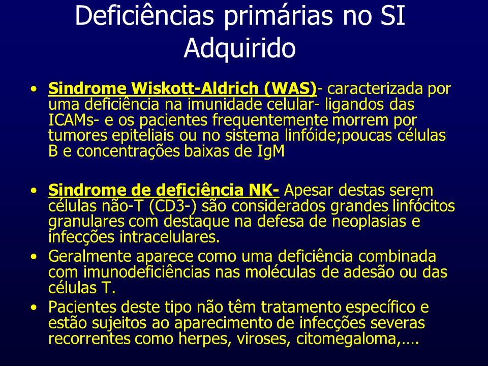 Deficiências primárias no SI Adquirido