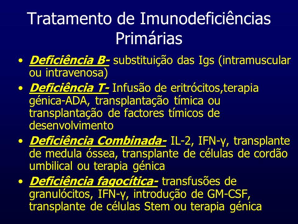 Tratamento de Imunodeficiências Primárias