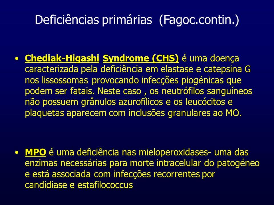 Deficiências primárias (Fagoc.contin.)