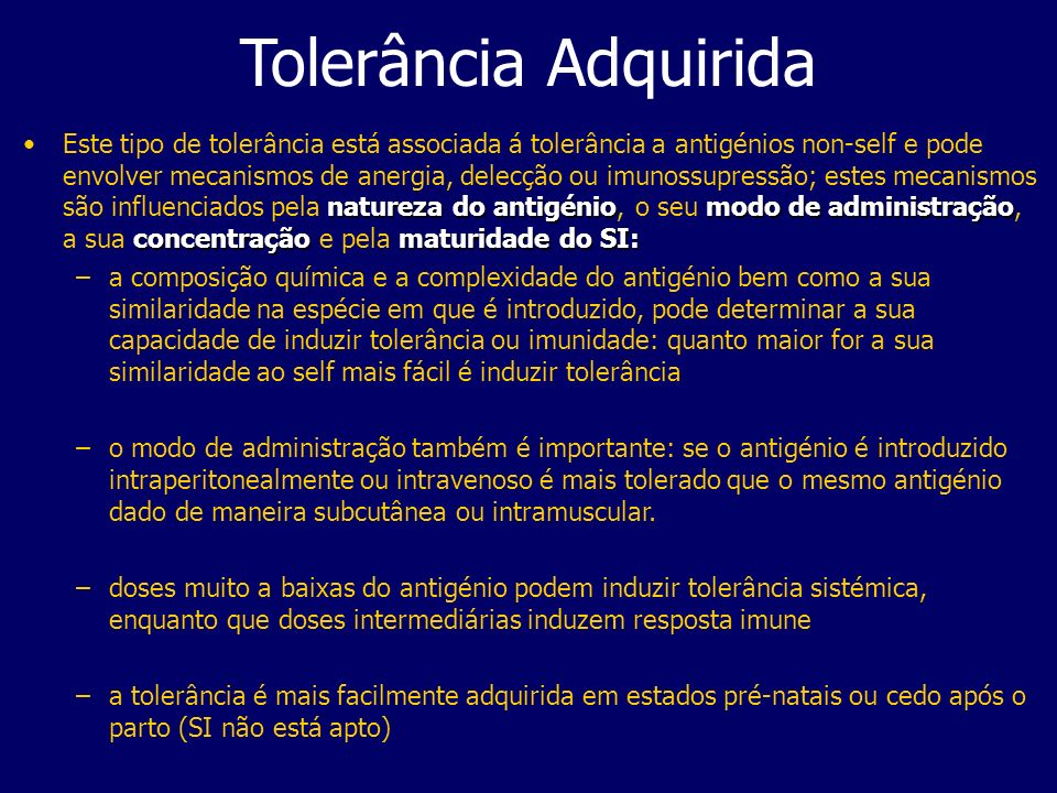 Tolerância Adquirida