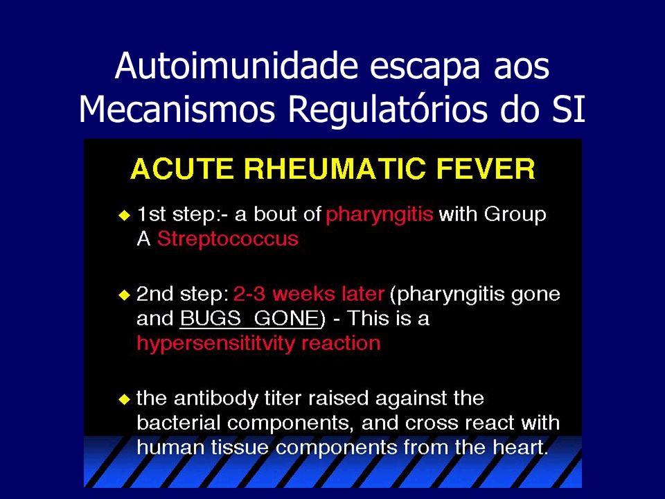 Autoimunidade escapa aos Mecanismos Regulatórios do SI