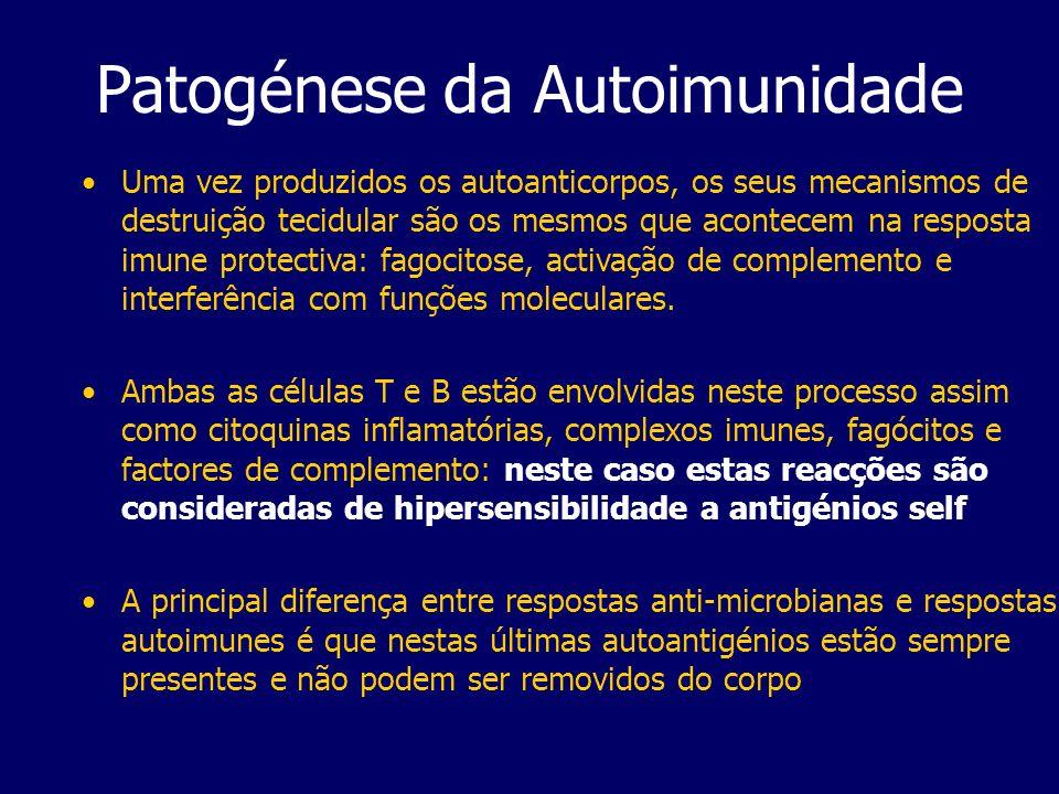 Patogénese da Autoimunidade