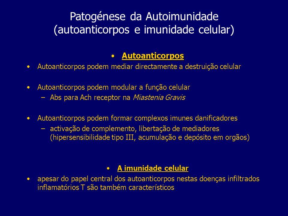 Patogénese da Autoimunidade (autoanticorpos e imunidade celular)