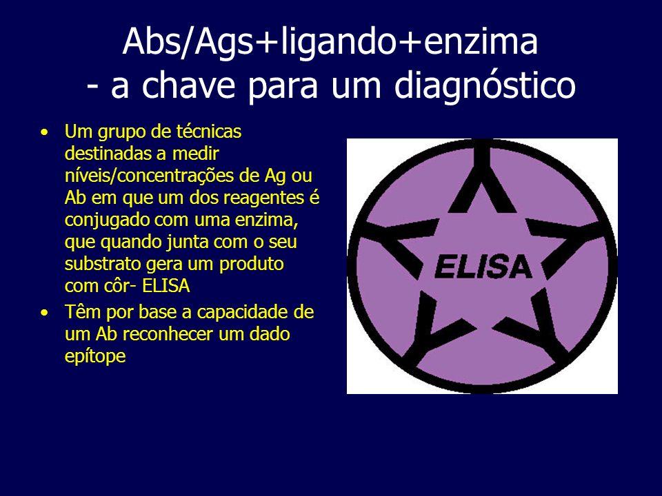 Abs/Ags+ligando+enzima - a chave para um diagnóstico