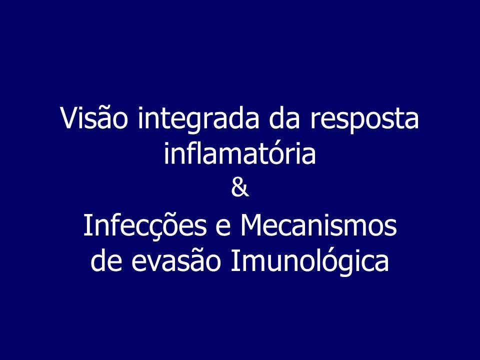 Visão integrada da resposta inflamatória &