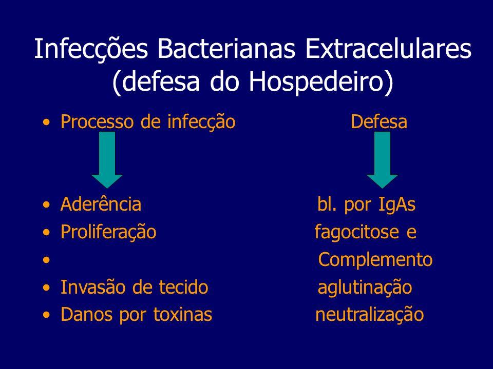 Infecções Bacterianas Extracelulares (defesa do Hospedeiro)