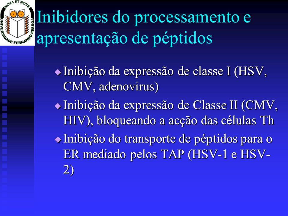 Inibidores do processamento e apresentação de péptidos