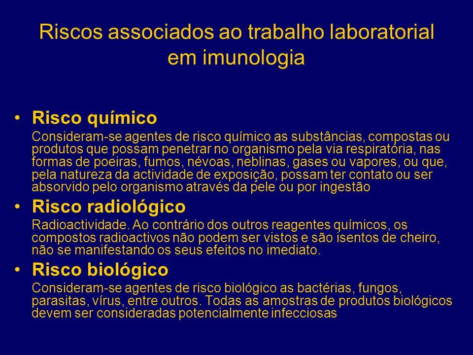Riscos associados ao trabalho laboratorial em imunologia
