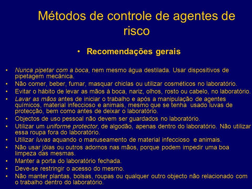 Métodos de controle de agentes de risco