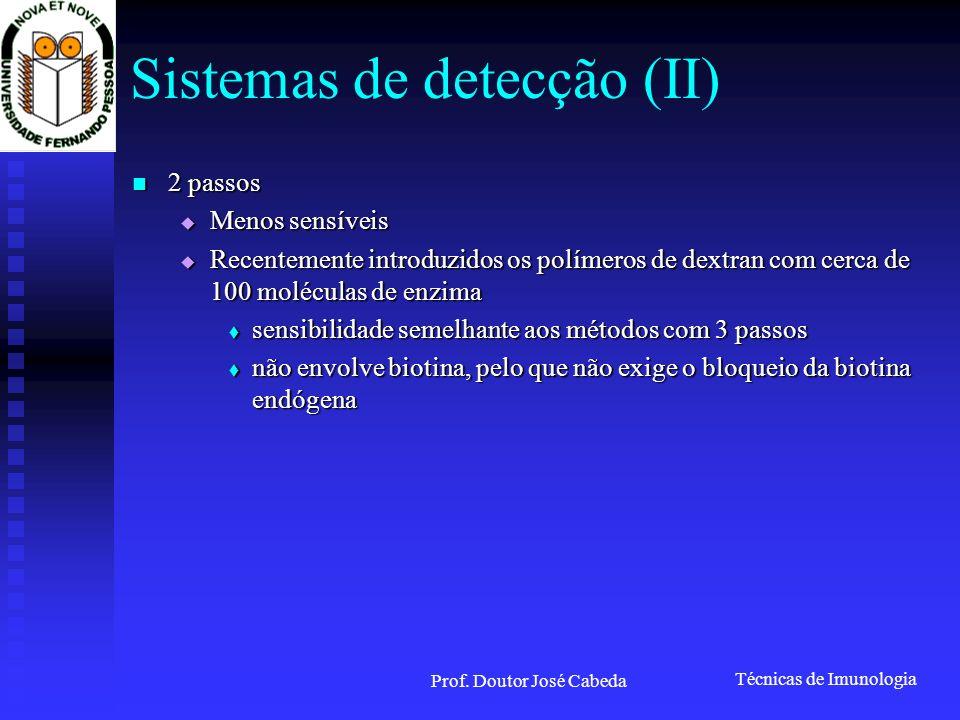 Sistemas de detecção (II)