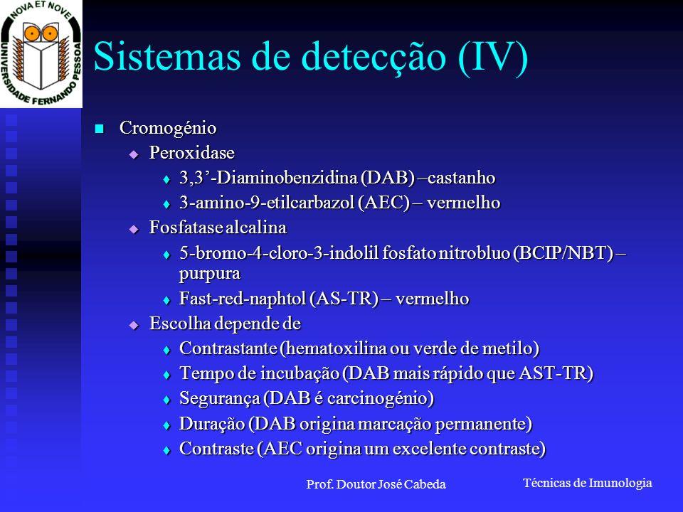 Sistemas de detecção (IV)