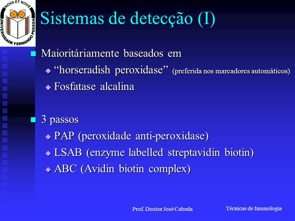 Sistemas de detecção (I)