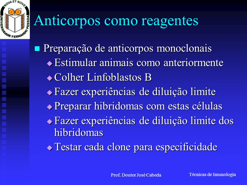 Anticorpos como reagentes