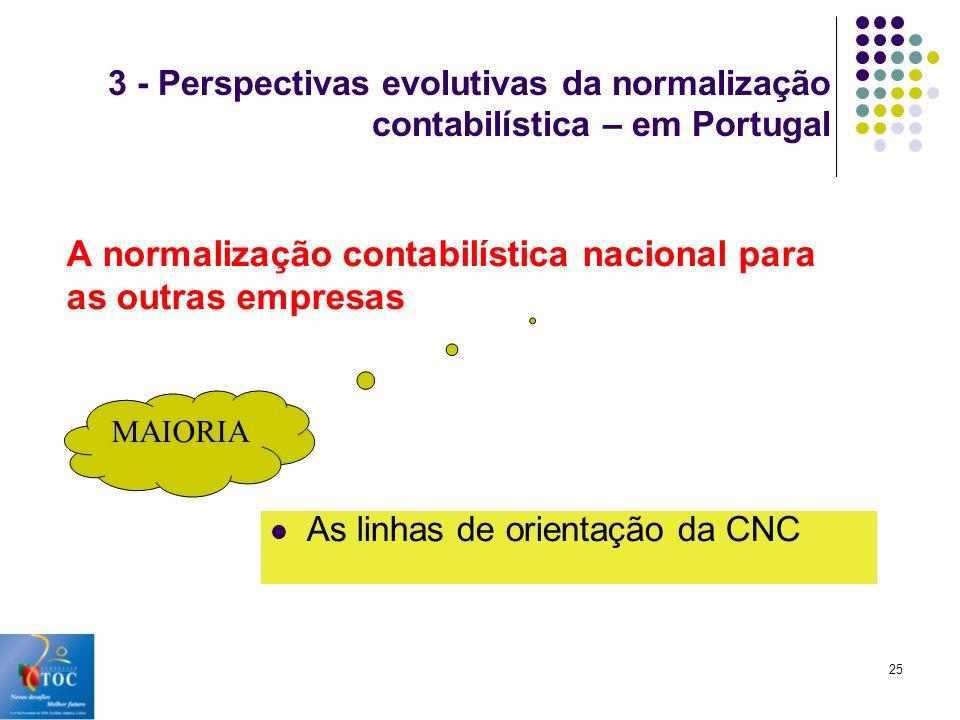 A normalização contabilística nacional para as outras empresas