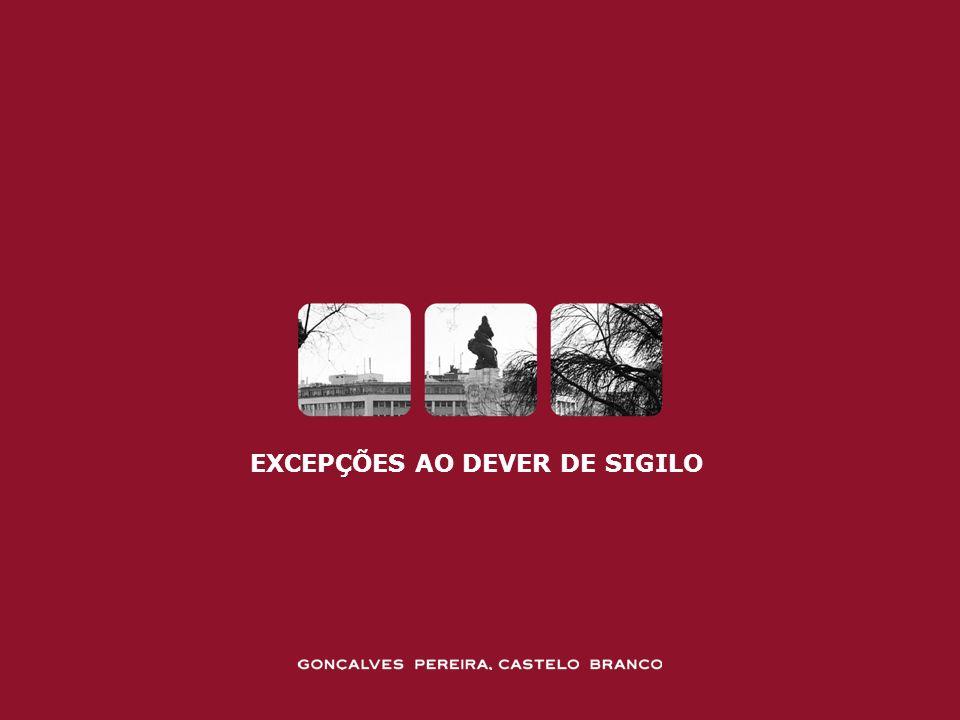 EXCEPÇÕES AO DEVER DE SIGILO