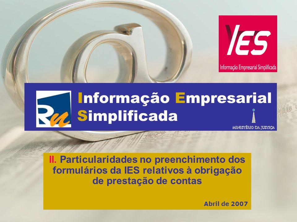 Informação Empresarial Simplificada