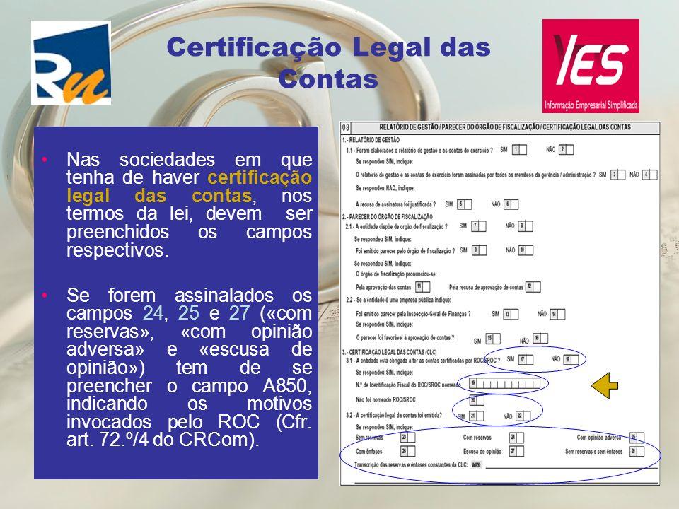 Certificação Legal das Contas