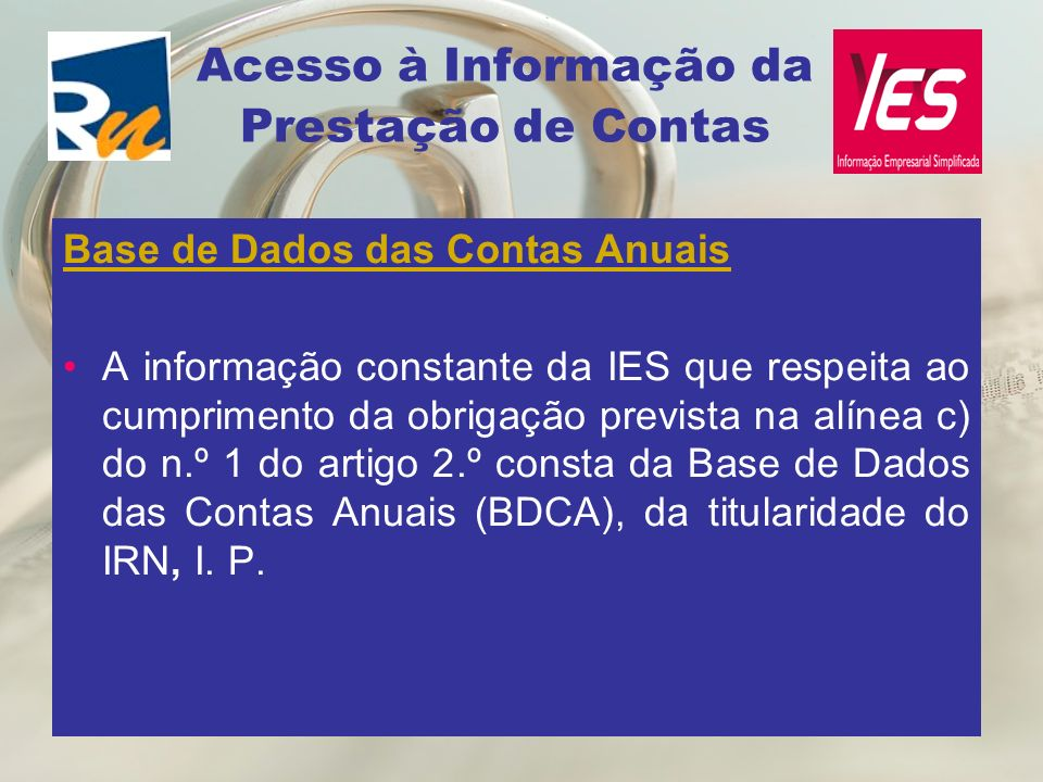 Acesso à Informação da Prestação de Contas