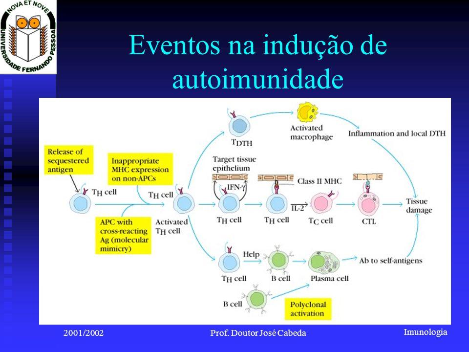 Eventos na indução de autoimunidade