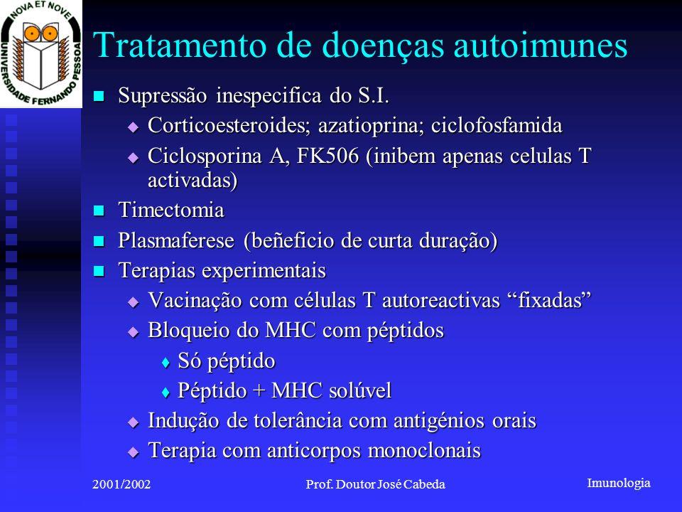 Tratamento de doenças autoimunes