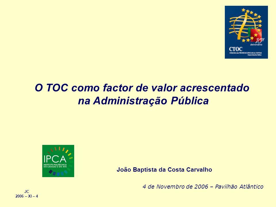O TOC como factor de valor acrescentado na Administração Pública