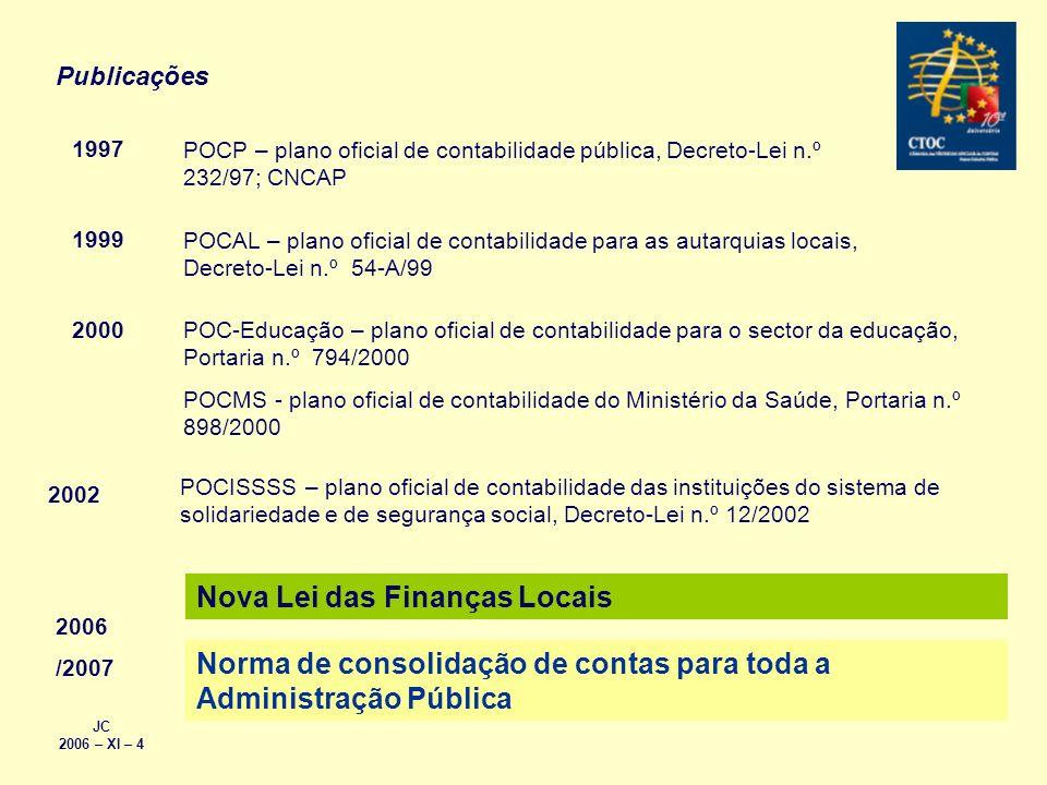 Nova Lei das Finanças Locais