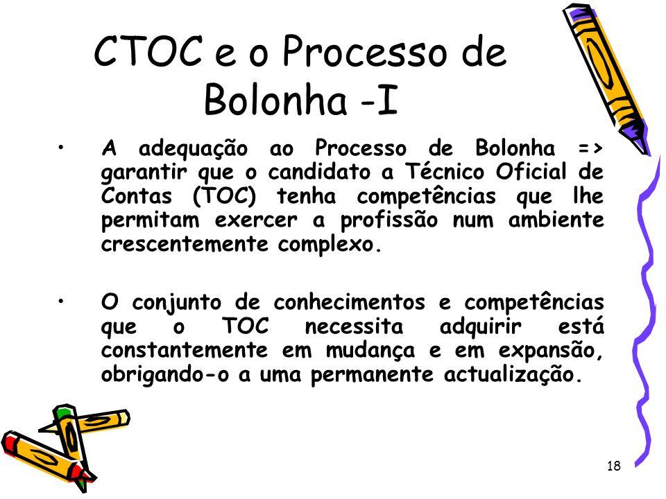 CTOC e o Processo de Bolonha -I