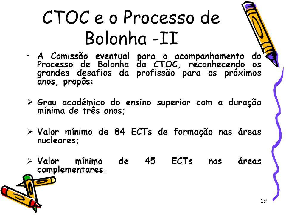 CTOC e o Processo de Bolonha -II