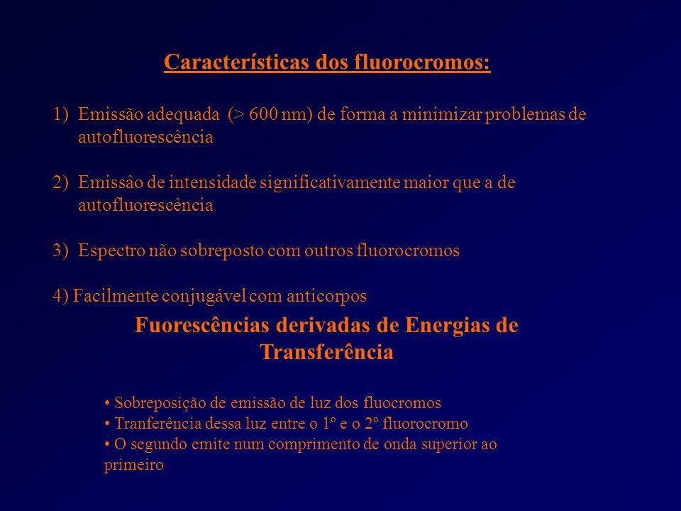 Características dos fluorocromos: