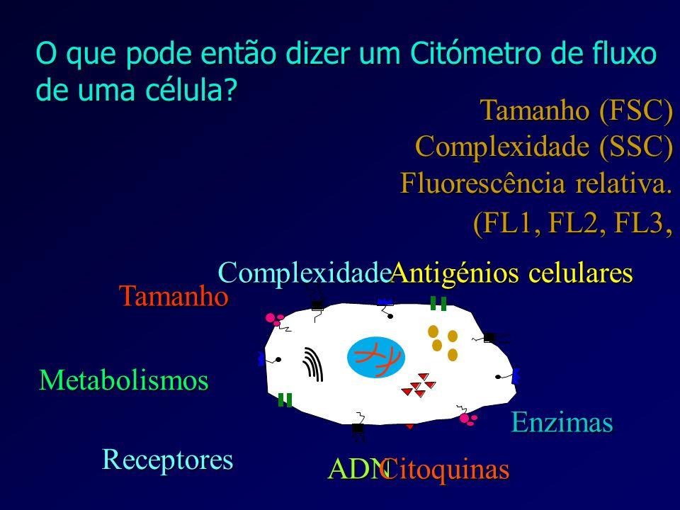 O que pode então dizer um Citómetro de fluxo de uma célula
